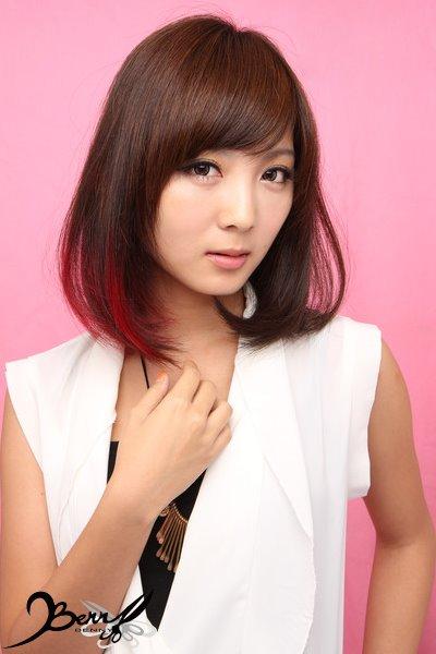 2013秋冬流行髮色 網拍model-小豬6