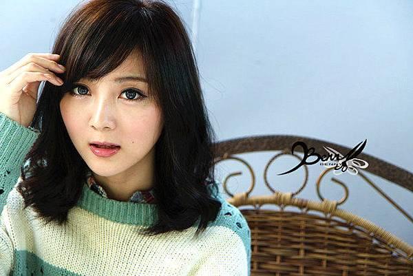 2013秋冬流行髮型 網拍model小豬 梨花風都會女孩05