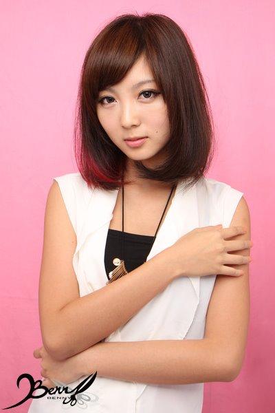 2013秋冬流行髮色 網拍model-小豬8