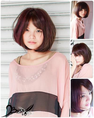 流行髮色  粉紫色及綠棕色