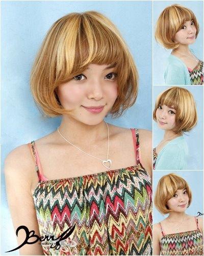 2014春夏流行髮色 BOB短髮 奶茶金&香檳金&摩卡綠00