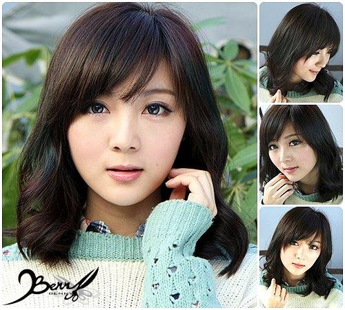 2013秋冬流行髮型 網拍model小豬 梨花風都會女孩07