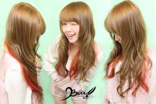 2013春夏流行髮色 奶茶綠 mix 橘紅04