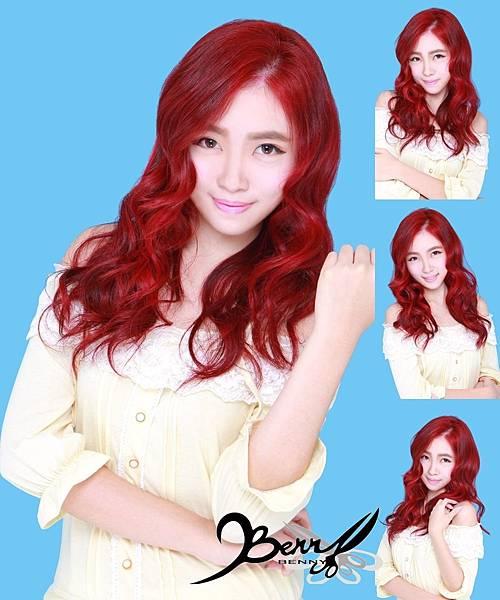 【台北西門町髮型設計師BENNY推薦尚洋髮藝燙髮染髮】2015春夏髮型髮色 美人魚紅 (2)