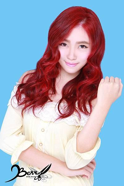 【台北西門町髮型設計師BENNY推薦尚洋髮藝燙髮染髮】2015春夏髮型髮色 美人魚紅 (6)