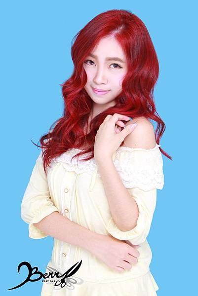 【台北西門町髮型設計師BENNY推薦尚洋髮藝燙髮染髮】2015春夏髮型髮色 美人魚紅 (7)