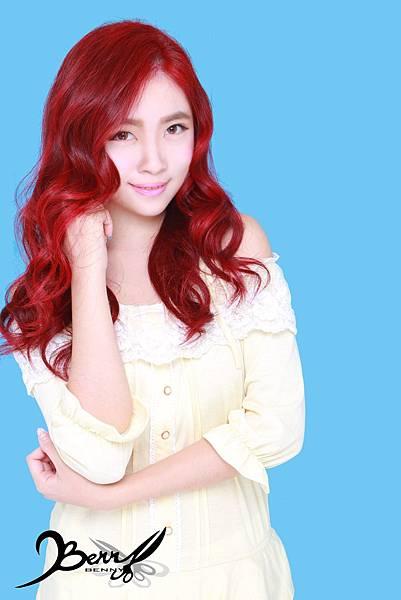【台北西門町髮型設計師BENNY推薦尚洋髮藝燙髮染髮】2015春夏髮型髮色 美人魚紅 (8)