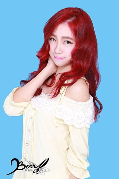 【台北西門町髮型設計師BENNY推薦尚洋髮藝燙髮染髮】2015春夏髮型髮色 美人魚紅 (5)