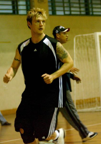 Nick在杭洲打球的模樣