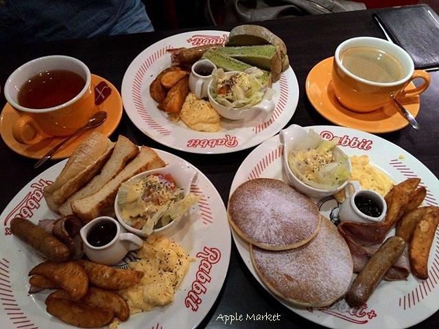 兔子兔子美式餐廳@中友百貨一中商圈平價美式早午餐