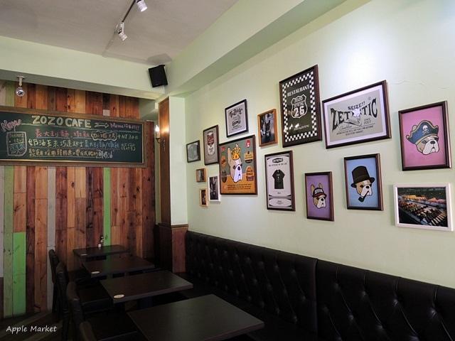 1448430075 1015670530 - zozo cafe@一中商圈平價義式咖啡館 滿店可愛的卡通鬥牛犬 免費wifi 義大利麵燉飯鬆餅甜點(已歇業)