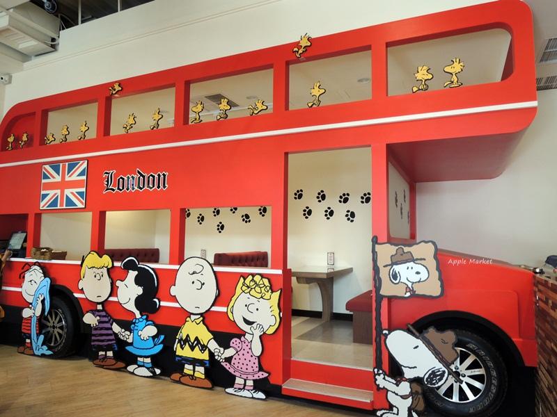 1452141215 3182849812 - 查理布朗咖啡Charlie Brown Café@萬國旅行風格台中店 真實感受漫畫人物的歡樂氣氛 大人小孩都喜歡