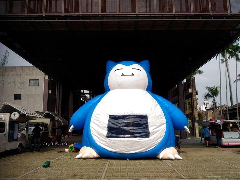 台中文創園區出現野生巨大卡比獸 卡比跳跳床 胖卡市集 市區小人放電好去處 免費展覽參觀