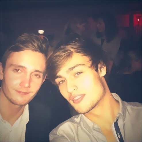 Douglas Booth and Luke