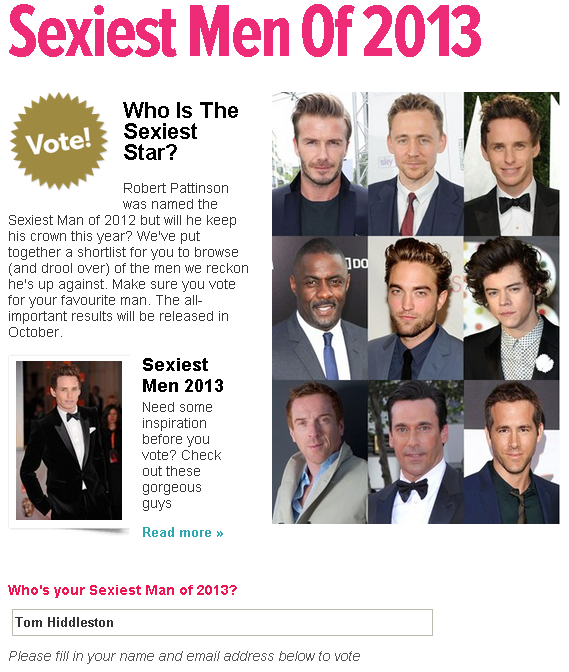 GLAMOUR Sexiest Men Of 2013