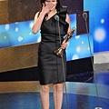 劉品言以「含苞欲墜的每一天」豪放女角色,奪下金鐘戲劇節目女配角獎。(記者林澔一/攝影 - 照片來源:世界新聞網)