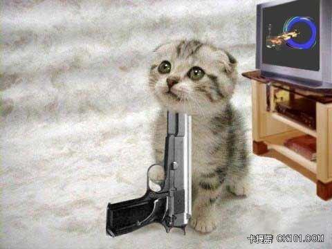 主人不要叫我舉槍自盡、我很可愛耶~主人:對阿~你可憐~沒人愛囉...
