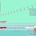 中共艦連雲港以火控雷達照射日艦機.想籍此令日方誤判受攻而開第一槍(東方早報示意圖)!
