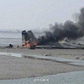 中國空軍一架蘇27戰鬥機山東海域墜毀