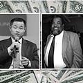 劉醇逸(左)的最重要的政治靠山、競選顧問林奇(右)2013年8月9日下午猝死;新證據證實劉醇逸競選團隊在籌款中存在大量欺詐和違法行為。(合成圖片)票