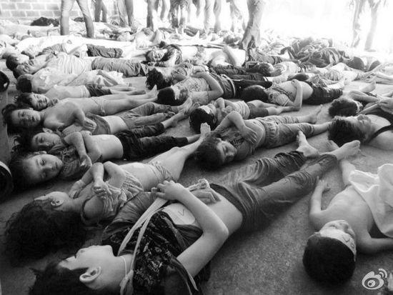 敘利亞政府軍被指使用神經毒氣致千人死亡(網絡圖片)