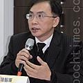 中央警察大學公共安全學系副教授董立文。(攝影╱戴德蔓)