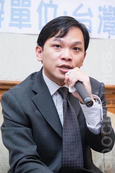 中央研究院法律學研究所副研究員邱文聰。(攝影:陳柏州 /大紀元)