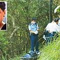 警方昨午在太平山同樂徑發現一具女屍,相信為早前預告自殺的16歲女生伍珍儀(小圖)。溫瑞麟攝