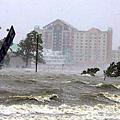 國內網友發給海外的撫順市兇猛大水災的照片。(網絡圖片)