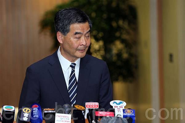 梁振英上台後,香港日益赤化和黑幫化。(潘在殊/大紀元)