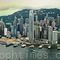 2013年國際金融中心排名統計顯示,香港首次超越東京,晉身第三位,而上海則已連續三年居第六位。香港金融中心地位屹立不倒。(宋祥龍/大紀元)