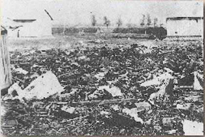 1931年9月,戰後成為一片廢墟的東北軍北大營。(網絡圖片)