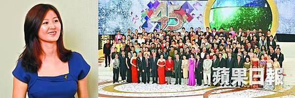 袁彌明(左圖)希望其他藝員站出來,集體向無綫電視追討收入損失;圖為去年藝員出席無綫台慶。