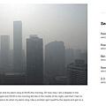 自進入中國大陸十一長假以來,北京再次遭遇霧霾天氣,PM2.5數值一路走高,已經達到重度污染的級別。10月5日進入長假第五天,北京空氣質量指數上升到347,霧霾狀況繼續加重!北京市環境保護監測中心預計,北京空氣質量仍會達到重度污染。林德斯泰特在網誌抱怨北京的天氣,配上一張灰茫茫的照片。(圖/取自林德斯特網誌)