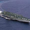 福特號航母的航行示意圖。(維基百科)
