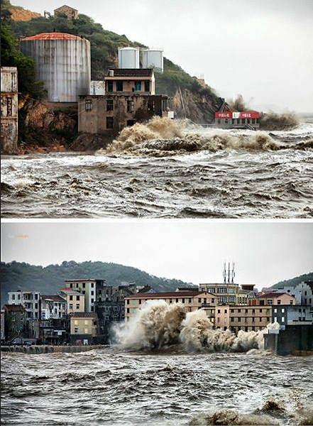 10月6日攝於浙江溫嶺石塘車關。(微博圖片)