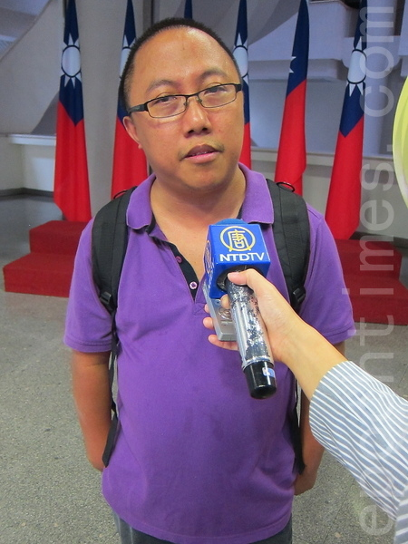 香港南方民主同盟主席龍緯汶。(鍾元/大紀元)