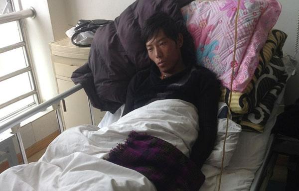 比如縣人次仁堅參正在拉薩醫院救治。(藏人行政中央官方網)