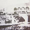 1987年陳少白由基隆登岸搭火車到台北大稻埕,圖為當時的大稻埕火車站(即火車票房)。(鍾元翻攝/大紀元)
