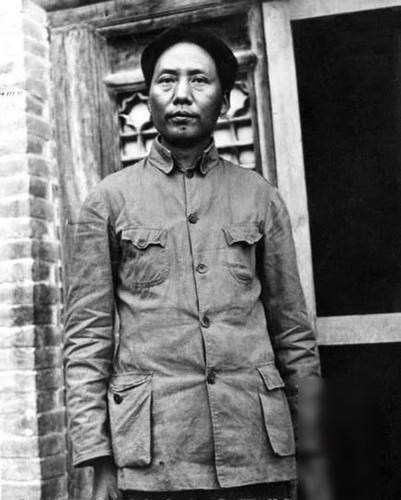 毛澤東在延安早期舊照。