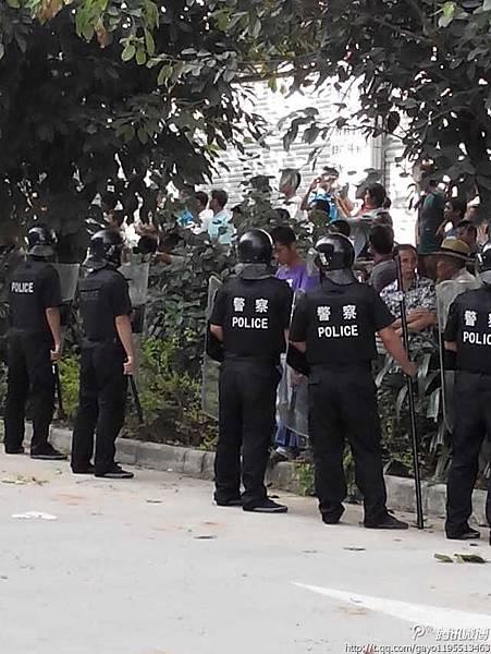 10月11日,雲南省景洪市勐龍鎮發生大規模警民流血衝突,警方開槍打傷多位村民。(網絡  圖片)