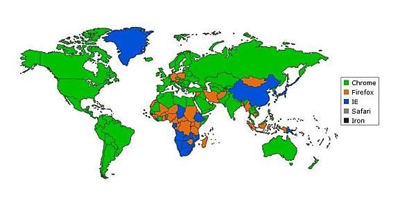 界上最受歡迎的瀏覽器(網絡圖片)