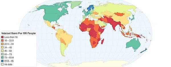 世界上上網人數最多的國家(網絡圖片)