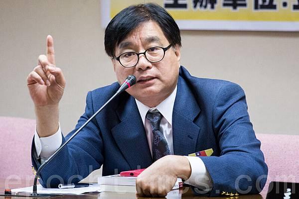 台灣關懷中國人權聯盟理事長楊憲宏。(陳柏州/大紀元)