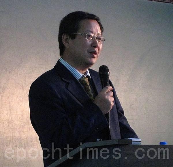 北京大學經濟學院教授、美國加州大學洛杉磯校區訪問教授夏業良在台大社科院舉行專題演講。夏業良表示,近來許多知識分子達成共識,認為大陸「改革已死」。(攝影:鍾元 /