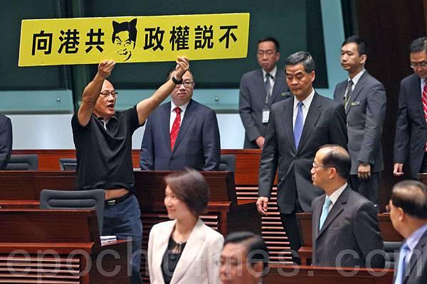 人民力量立法會議員陳偉業認為今次免費電視牌照風波是梁振英下台導火線。(資料圖片)