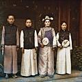 1912年7月,北京一群婦女(Albert Kahn 博物館)