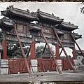 1912年6月28日,北京白雲觀門廊(Albert Kahn 博物館)
