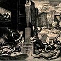 公元541-591年期間,古羅馬帝國發生了四次可怕的瘟疫。在第一次瘟疫中,古羅馬帝國的人口减少了三分之一,在首都君士坦丁堡有一半以上的居民死亡。畫家用筆記錄下瘟疫來臨時的悲慘景象。(網絡圖片)