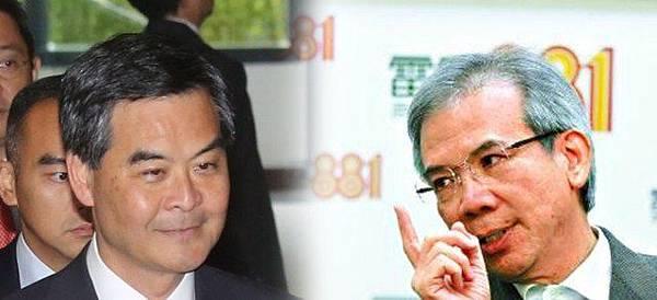 行政會議召集人林煥光(右)認為梁振英要就發牌事件作出深切檢討。(資料圖片)